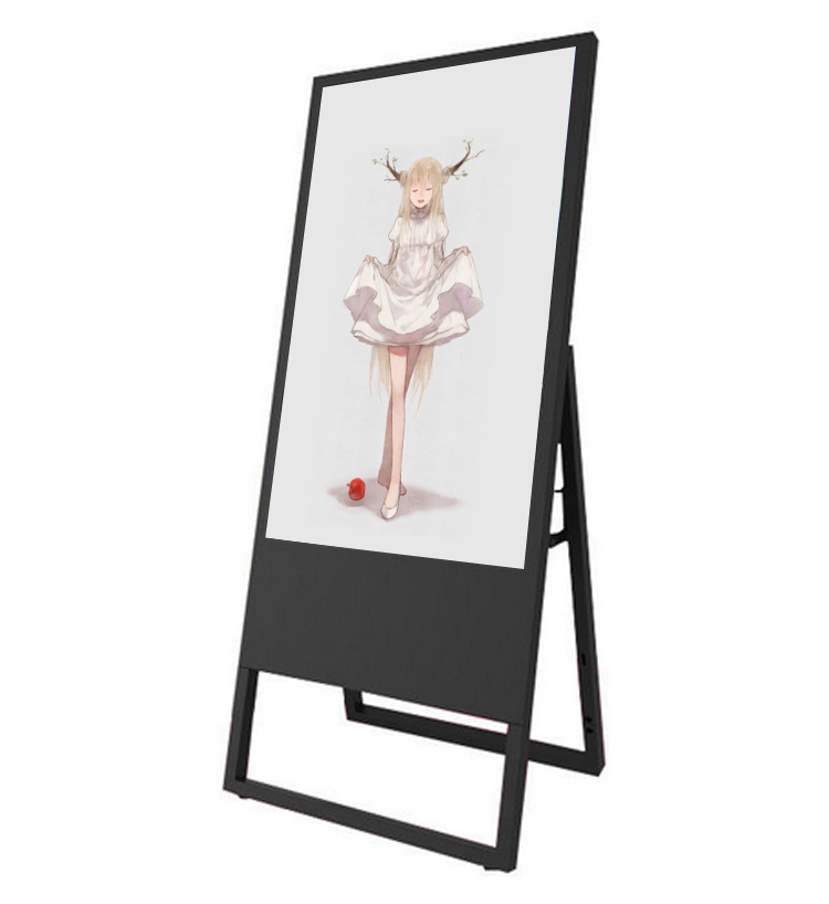 43 inch foldable lcd advertising player floor standing portable digital signage display