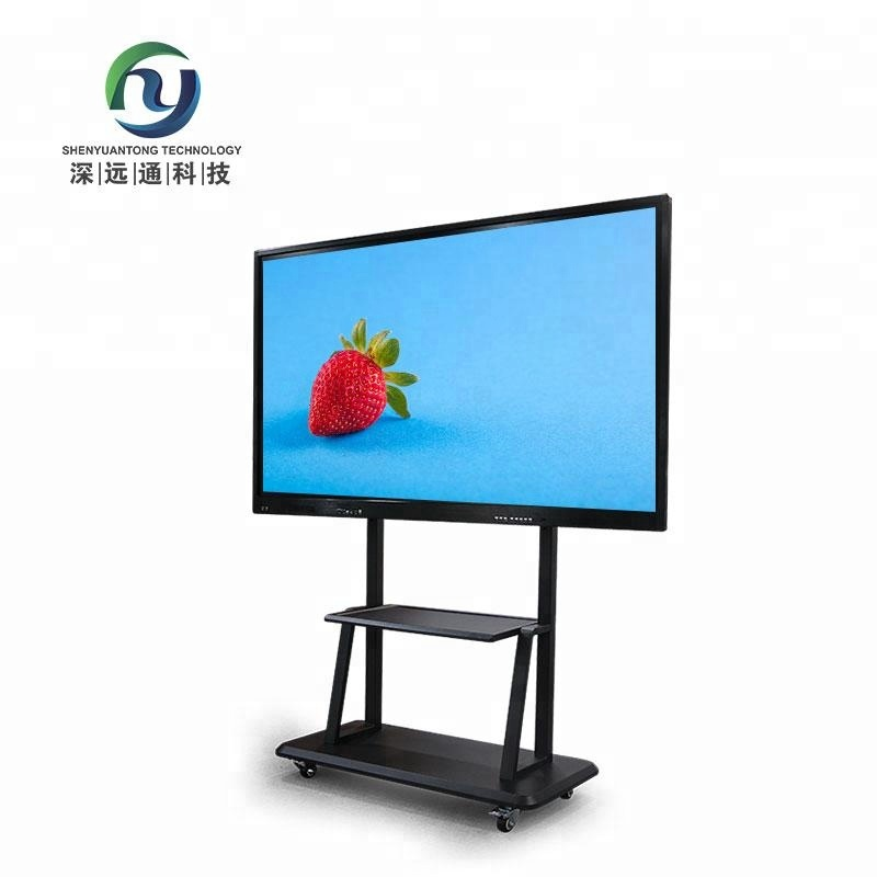 75 Inch Network Electronic Whiteboard Teaching Touch Screen Kiosk With Windows Os