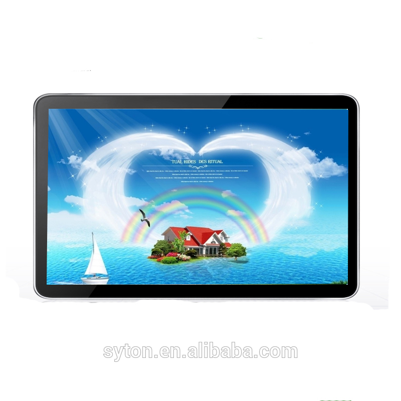 android touch screen monitor full hd video media wall mount ad player