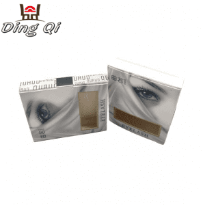 350g white custom bespoke display packing flat pack cardboard cosmetic eyelash folding box