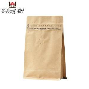 Corrugated Ppgl Sheet Flat Bottom Paper Bags - brown paper block bottom bags – DingQi