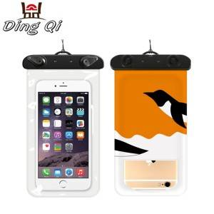 PVC high quality waterproof cellphone zipper bag for phone