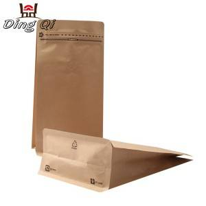 Corrugated Pre-Painted Steel Plate Stand Up Pouch Zip Lock Bags - Flat bottom paper bags – DingQi