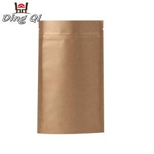 Aluminum Steel Sheet Gold Foil Bags - kraft zipper bags – DingQi