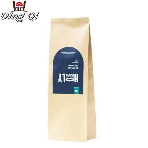 Trapezoidal Sheet Brown Kraft Bag With Window – Coffee bags 250g 340g 500g 1kg 2kg – DingQi