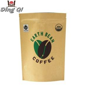 Corrugated Galvanized Steel Stand Up Zipper Bags - coffee bean bags – DingQi