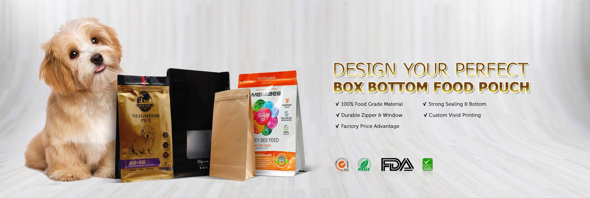 Box Bottom Food Pouch