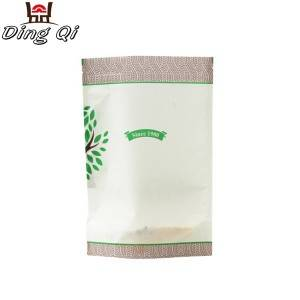Color Roof Steel Food Grade Foil Bags - paper bag with window – DingQi