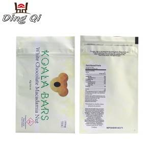 Child resistant double zipper three side seal bags