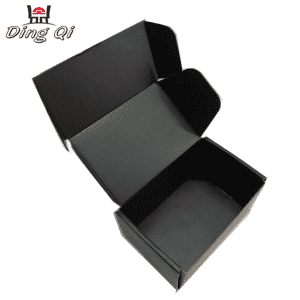 Custom matte black corrugated shipping mailing boxes manufacturer
