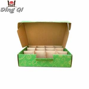 Food packaging kraft corrugated paper food chocolate cake box food packaging with dividers