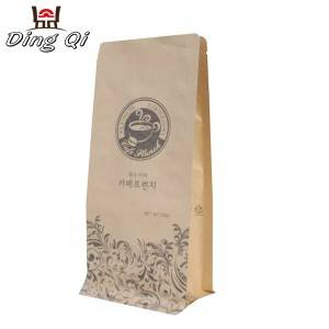 Color Coated Corrugated Sheet Kraft Bag Packaging - kraft paper coffee bags – DingQi
