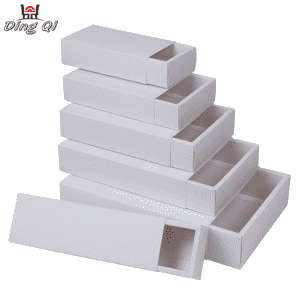 Unique paper cosmetic packaging folding cardboard box with sleeve