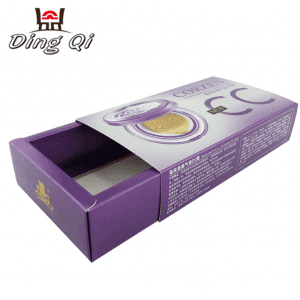 Recycled cosmetic gift paper folding drawer packaging box package