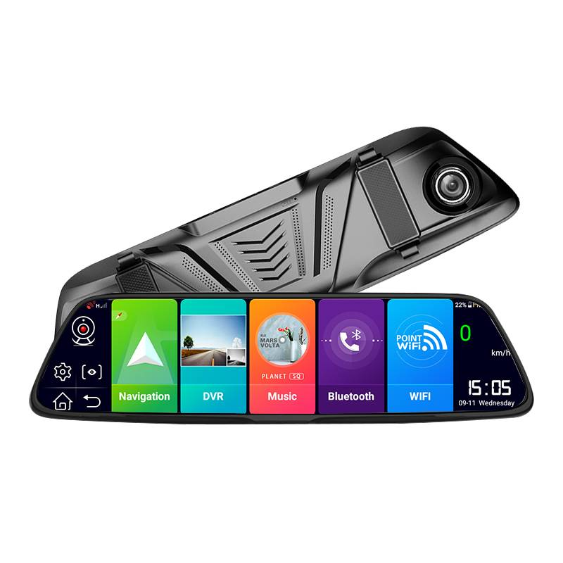 G79   Dual Lens Mirror Dash Cam with WIFI