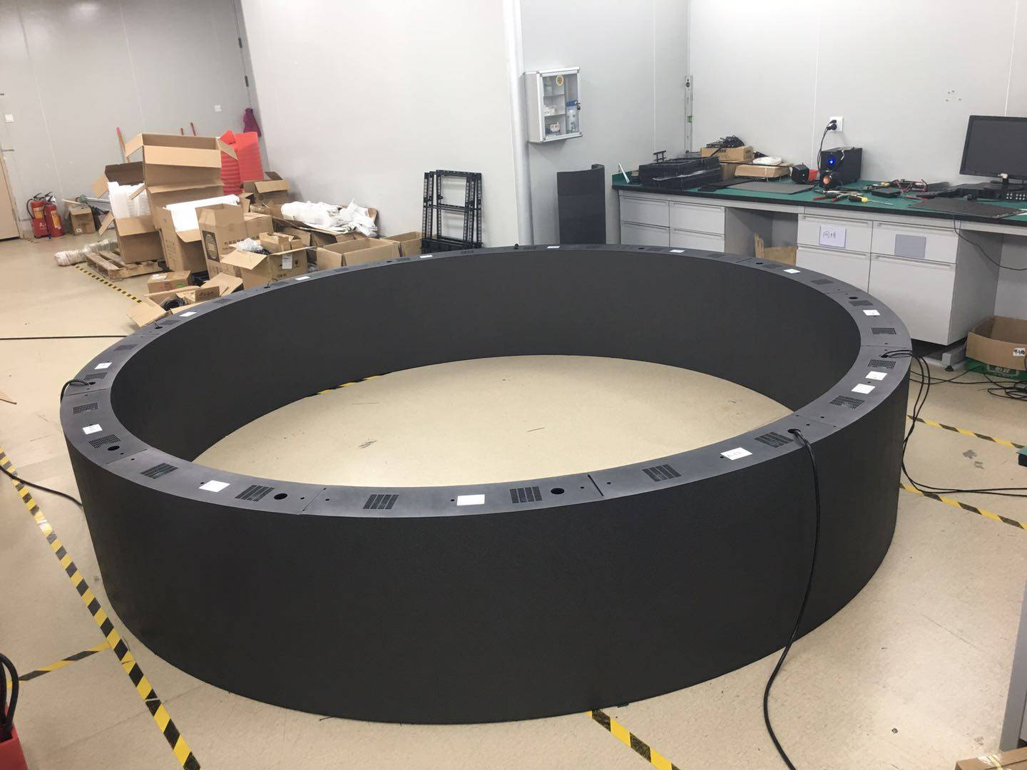 Double-sided circular LED display