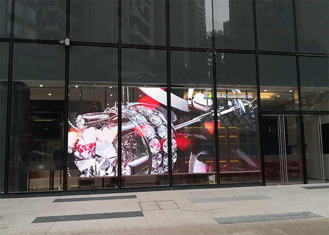 P3.9 Transparent LED Display Featured Image