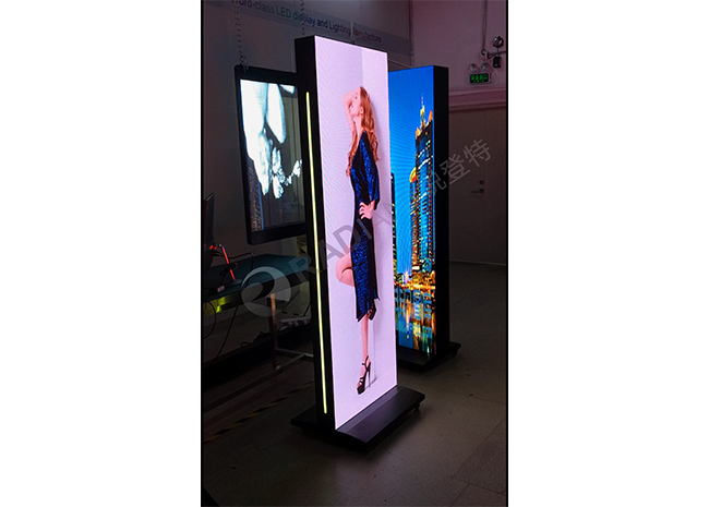 Floor standing LED screen poster