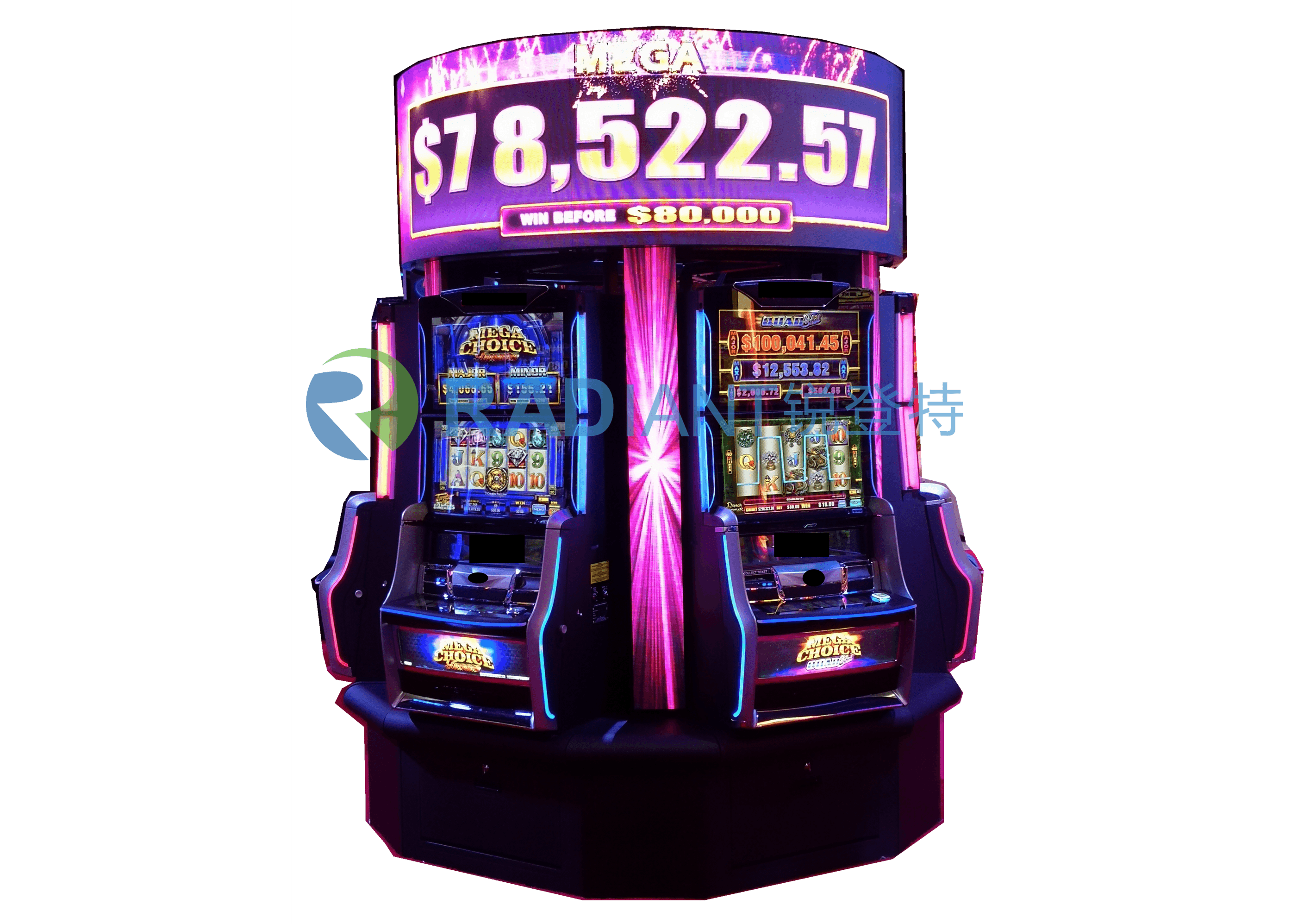 Round LED Display for Slot Machine
