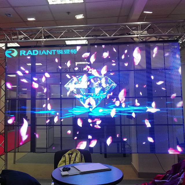 Transparent LED display foreground and market