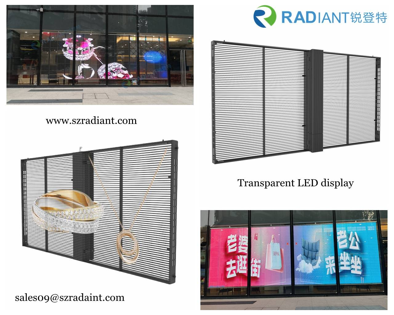 Is the LED transparent screen promising in the market? How is the structure implemented?