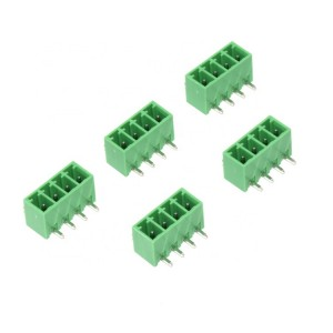 3.81 mm pitch 5 pin male Green right angle type terminal block