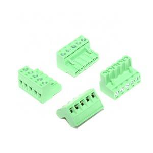 5.08 mm pitch 5 pin female Green pluggable terminal block