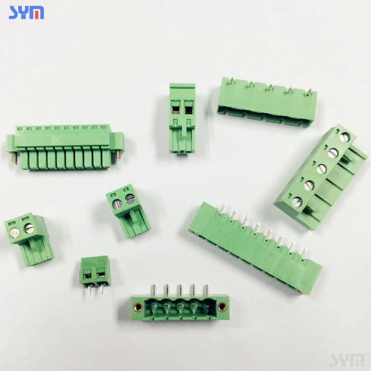 3.5/3.81/5.08mm pitch Green terminal block cable connector series
