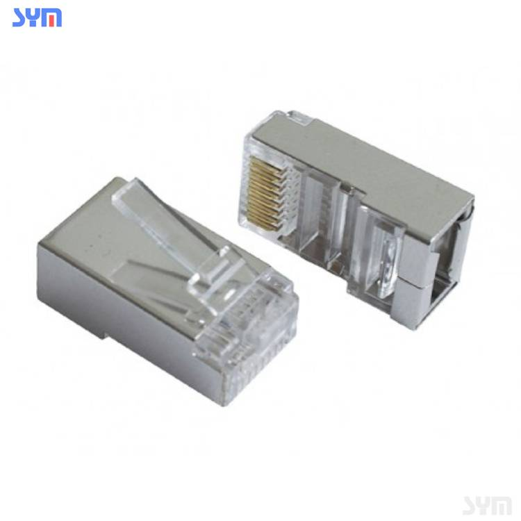 High Quality RJ45 Connector Cat5e CAT6 CAT7 for Ethernet cable 8P8C gold plated RJ45 Plug with UTP connector RJ45