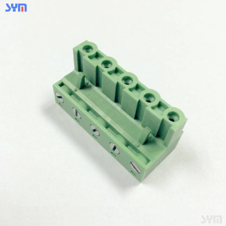 3.5mm demajoya connector termînalê de rengê kesk li şûna block