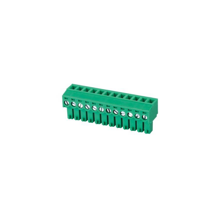 Equivalent green phoenix contact 3.5 3.81 5.0 5.08 mm pitch 2 to 22 24 pin pluggable terminal block