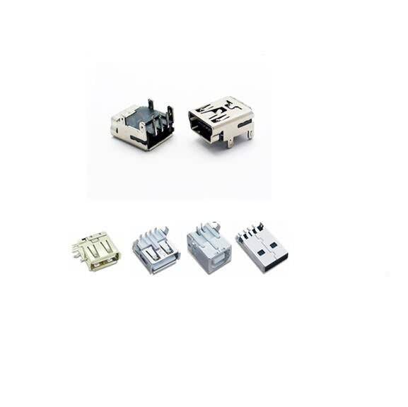SMT sawsaw PCB socket USB connector