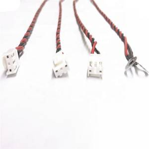 VH3.96 3Pin rubber shell to 1.25-6 round ring crimped electric wire harness 1007 16AWG  red /black wire 300mm