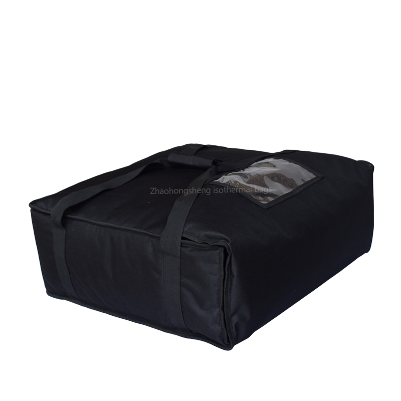 "20"" Black 1680D Portable Pizza Warmer Delivery Thermal Bags"