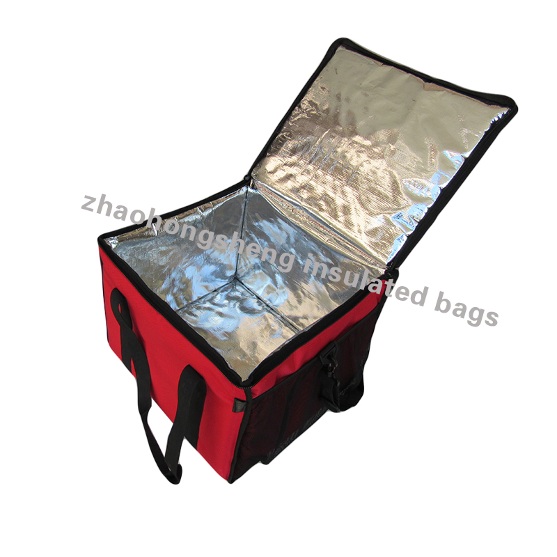 Promotional Good Thermal Canvas Insulated Food Delivery Lunch Cooler Bag in soft sponge