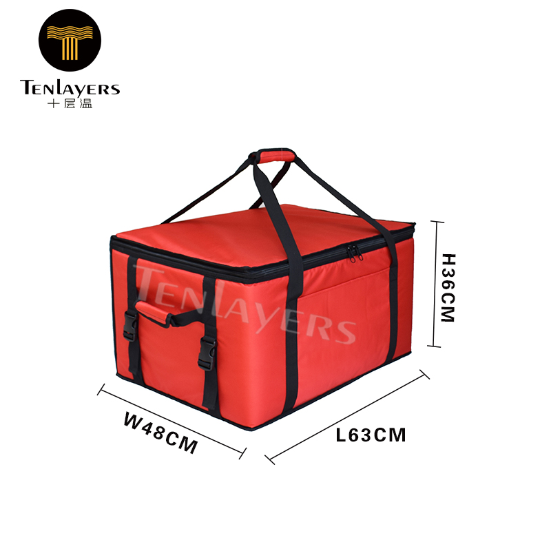 China Gold Supplier for Cooler Bag With Front And Side Pocket - Extra large whole foods thermal insulation food delivery bike lunch cooler bag – Zhao Hongsheng