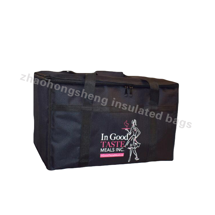 LINE 22inch Insulated Lunch Pizza Delivery Hot Food Carrying Bag with Luxury Polyester