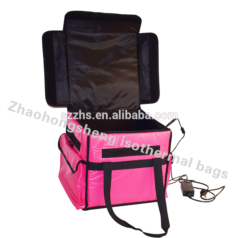 Good Quality Medical Travel Cooler Bag - Polyester heated 12 V pizza food delivery lunch cooler bag cooler box – Zhao Hongsheng