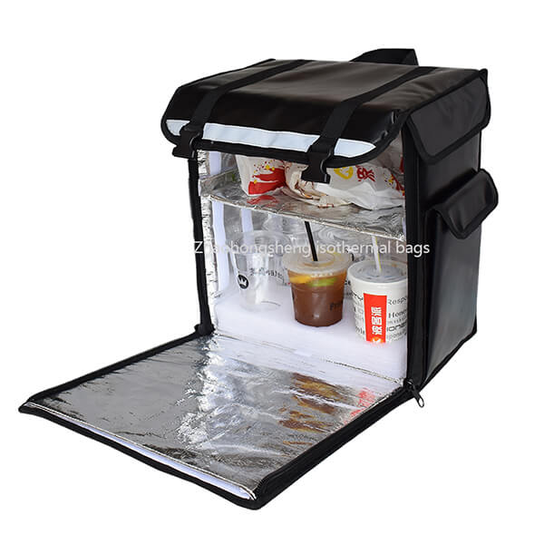 Promotional large custom cold thermal food delivery cooler backpack bag
