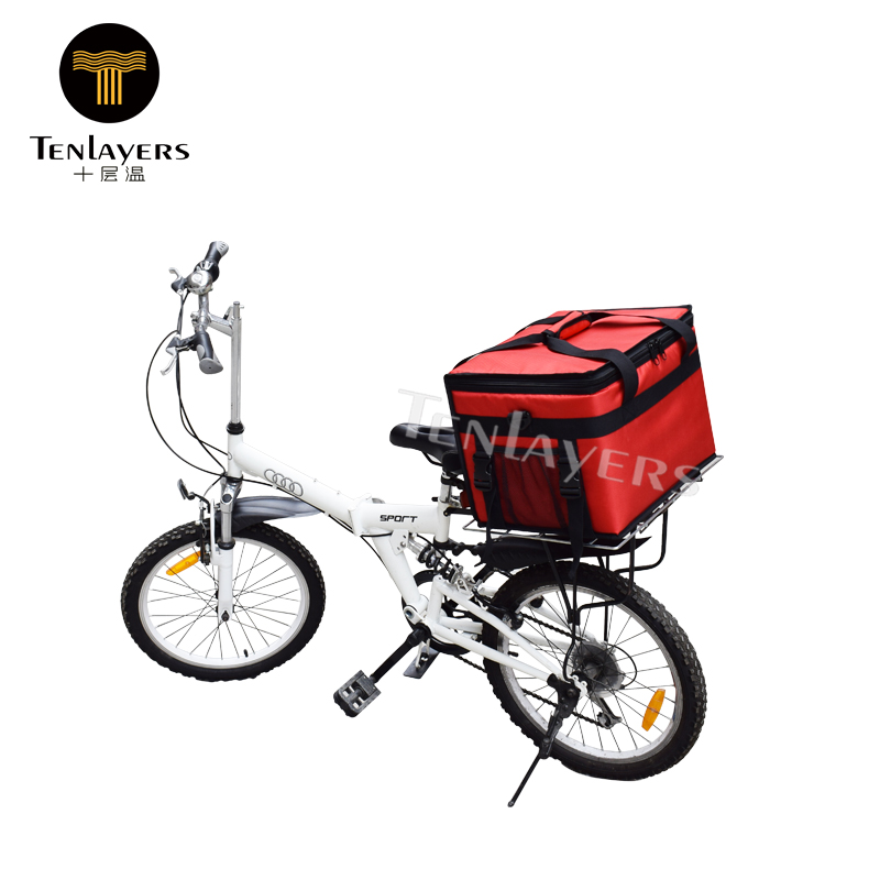 new 2018 hot selling bike thermal insulated food delivery meal prep cooler bag