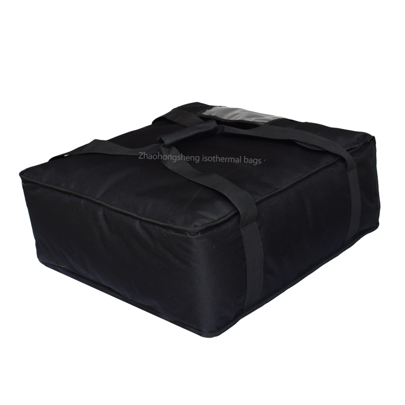 "20 ""Black 1680D Portable Pizza Mas Mainit Delivery Thermal Bag"