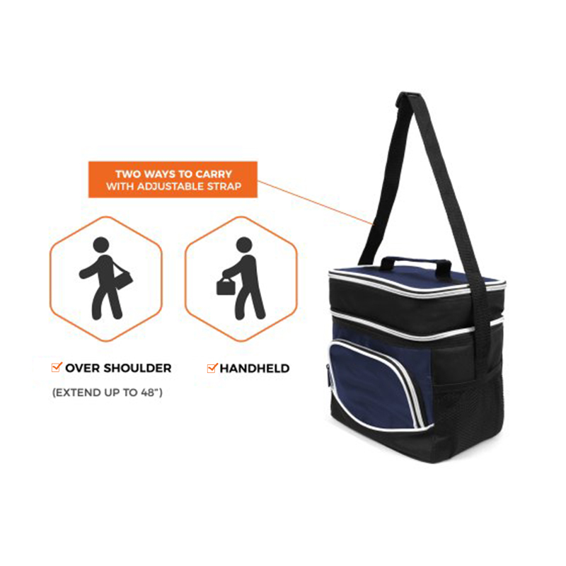 Convenient side bags thermal insulation food delivery lunch cooler bag