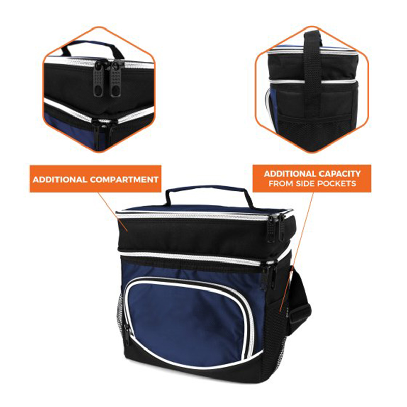 Zipper closure non woven insulated food delivery cooler bag mini can medicine cooler