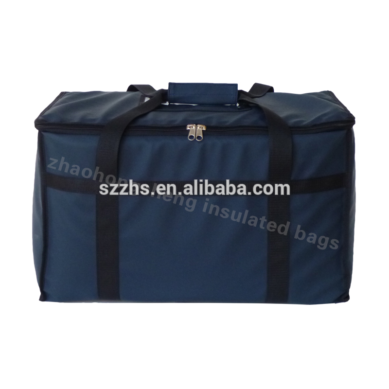 Excellent quality 4 Pizza Delivery Bag - None printing custom double zipers pizza warmer food delivery insulated lunch cooler bag – Zhao Hongsheng