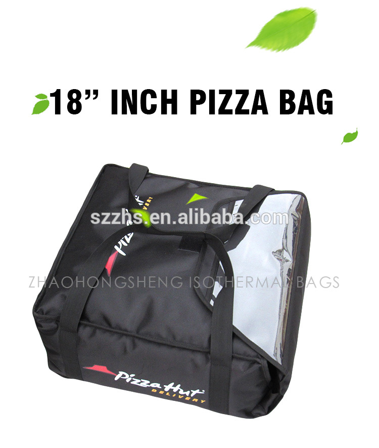 2017 High quality Wine Cooler Bag - Black Good Thermal Insulated Pizza Hut Food Delivery Bags in Silk Cotton – Zhao Hongsheng