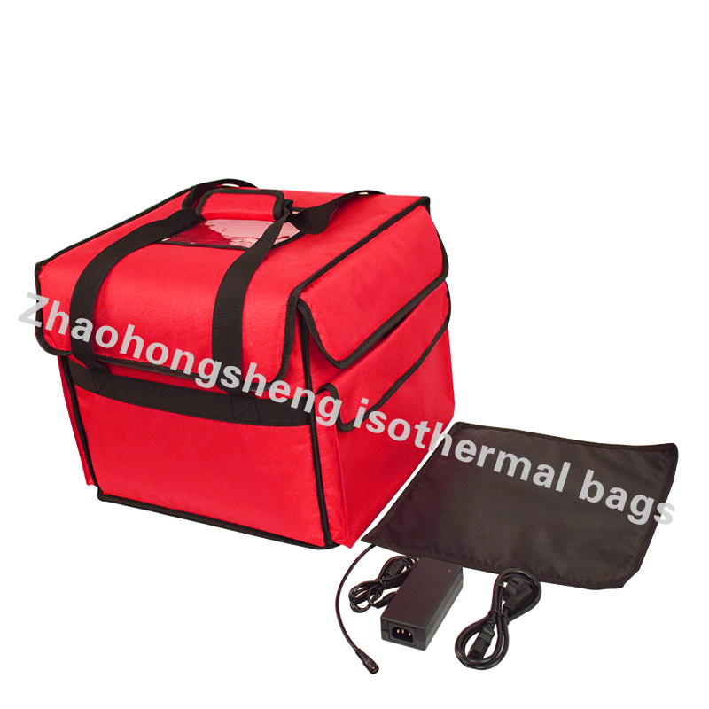 LINE Waterproof 12V terisolasi Lunch Container Hot Food Digawe Pizza Delivery Bag