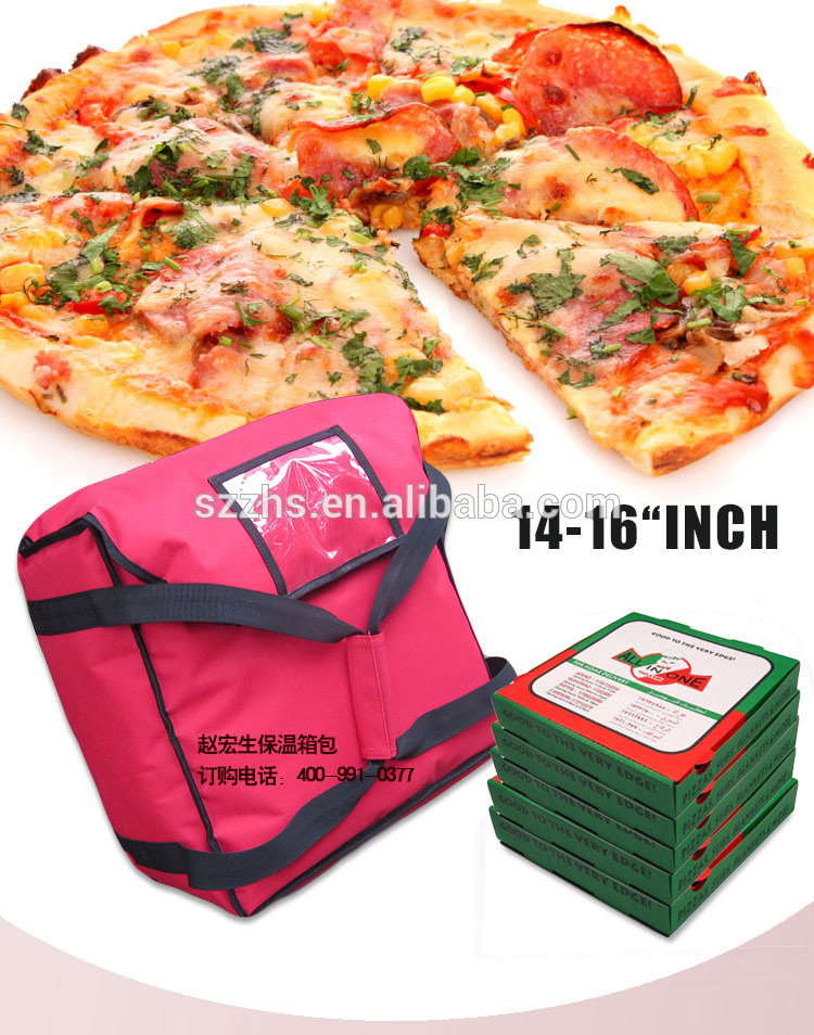 China OEM Pizza Food Delivery Cooler Bag - Best thermal aluminum foil insulated pizza delivery cooler bag – Zhao Hongsheng