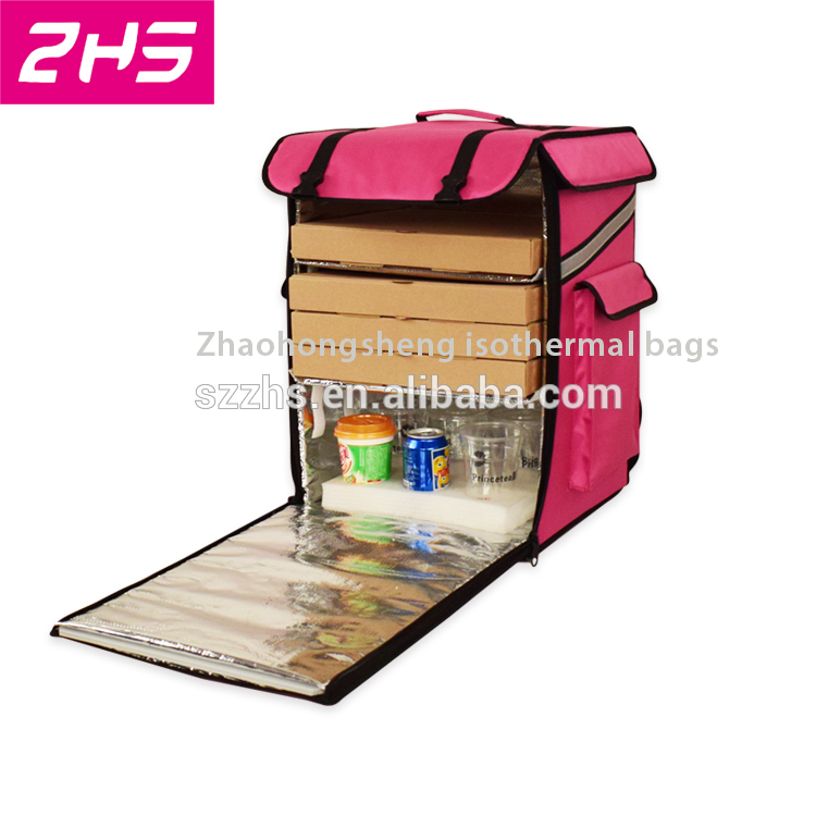PriceList for Collapsible Insulated Cooler Bag - Portable large insulated food delivery cooler bag backpack – Zhao Hongsheng Featured Image