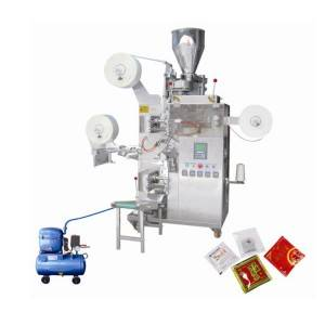 Automatic tea bag Packaging Machine with thread , tag and outer wrapper TB-01