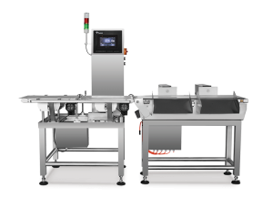 High precision checkweigher for food, pharmaceutical, plastic manufacturer with reject system